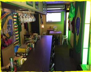 本格ブラジル料理のお店NossA(ノッサ)のカウンター主観